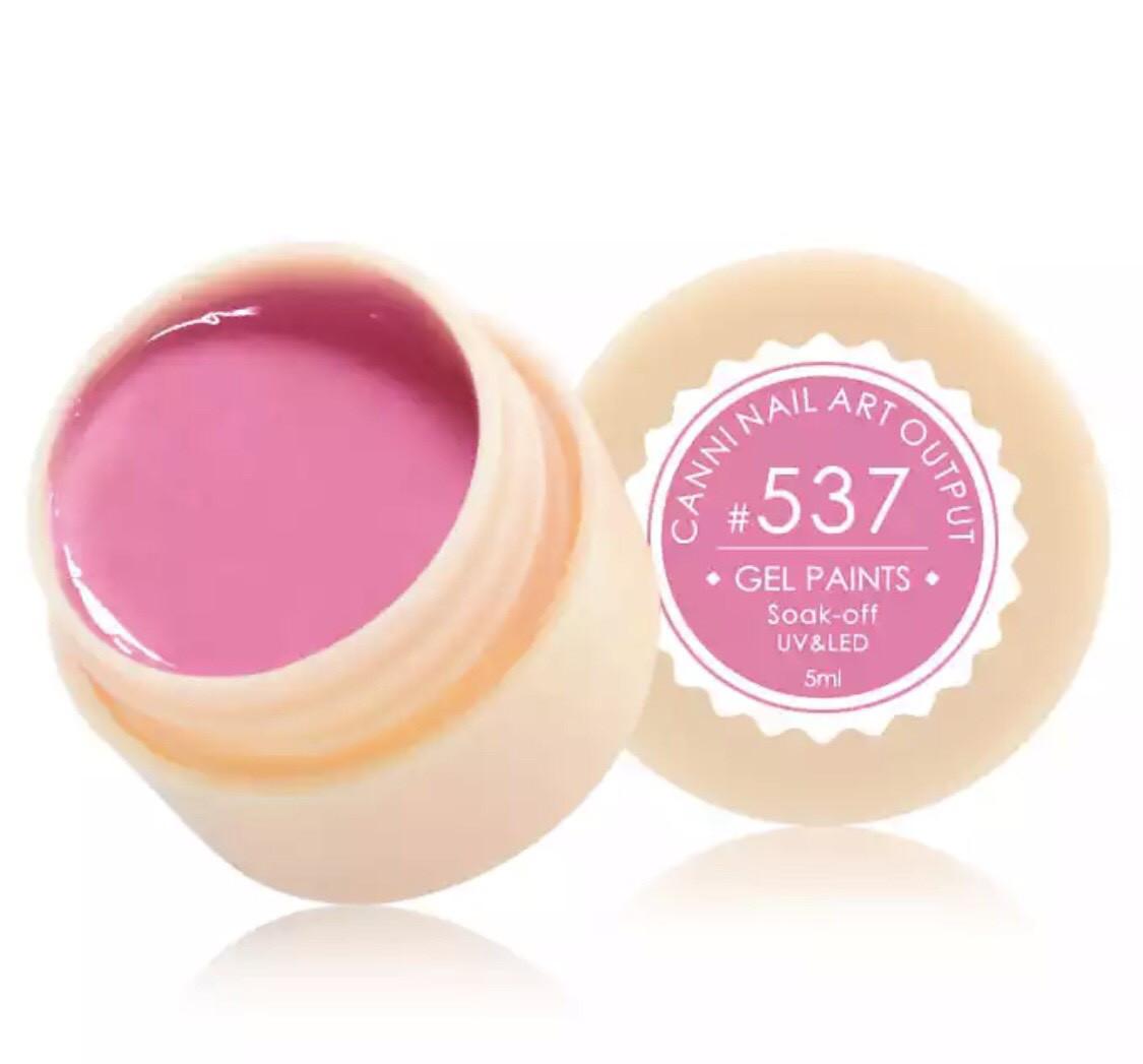 Гель-краска CANNI 537 (яркий розовый), 5 мл