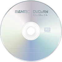 Диск DVD-RW диск Emtec 4,7 GB 4x Cake box 10