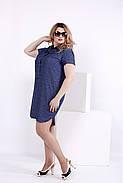Женское платье мини с принтом волна 0846 / размер 42-74 / большие размеры , фото 2
