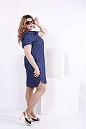 Женское платье мини с принтом волна 0846 / размер 42-74 / большие размеры , фото 3