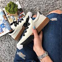 "Женские кроссовки Alexander Wang x Adidas Originals Skate ""Brown/Beige"" (Реплика AAA+)"