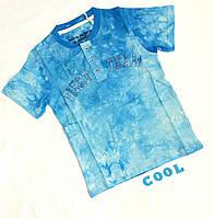 """Футболка подростковая""""98"""", коттон, размер 134-152, голубой"""