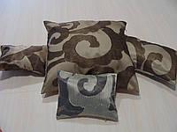 Комплект подушек Завитки коричневые и молочные, 4шт, фото 1