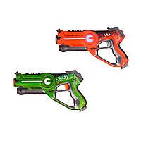 Набор игрушечных пистолетов СALL OF LIFE Laser Tag Gun Star Team W 7001 T для игры в домашний лазертаг Красный/Зеленый