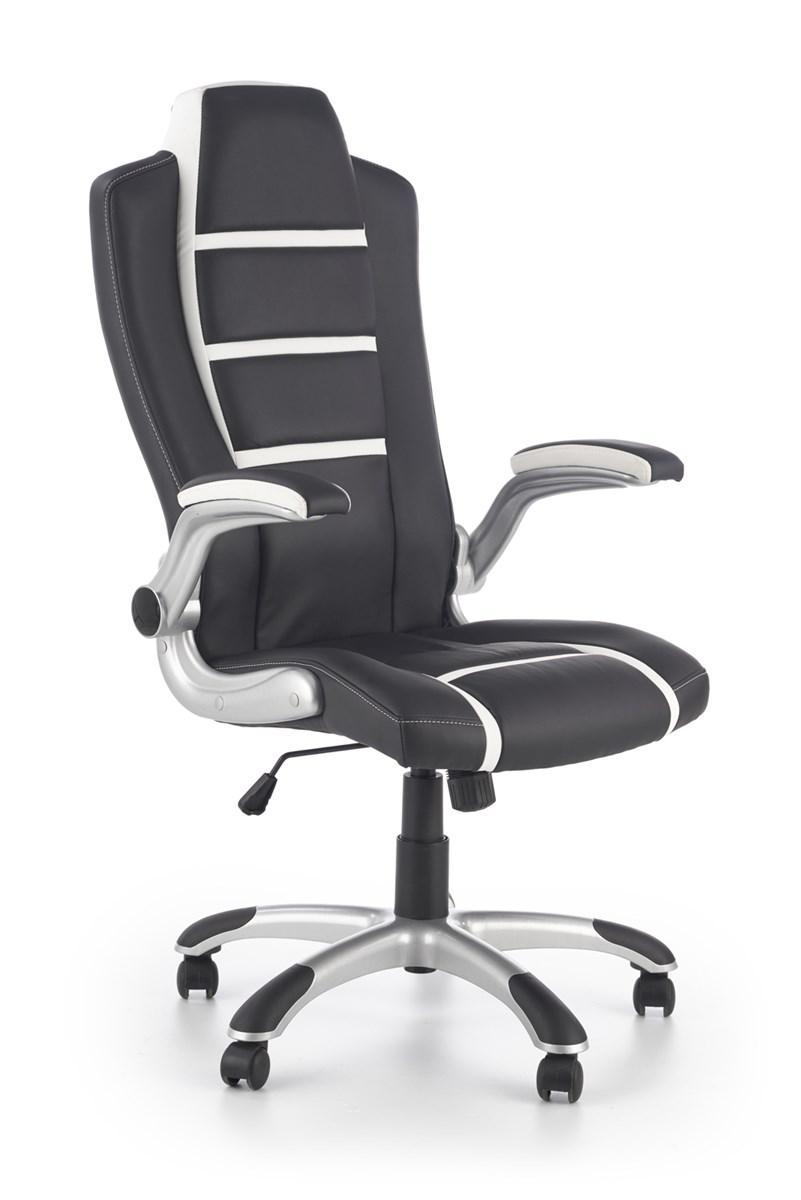 Компьютерное кресло FAST черный/белый Halmar
