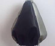 Чехол КПП кожа короткий черный- серый BK/GY (комбинированный) Avtoban, фото 1