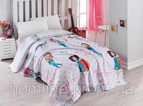 Постельное белье Eponj Home Pike FashionGirl pembe розовое полуторный размер