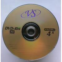 Диск DVD+RW VS 4,7 GB 4x Bulk 50 золотистый