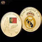 Позолоченная монета ''Роналдо''