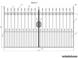 Ворота ковані тип 1