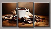 """Модульная картина на холсте """"Кофе с шоколадом"""""""