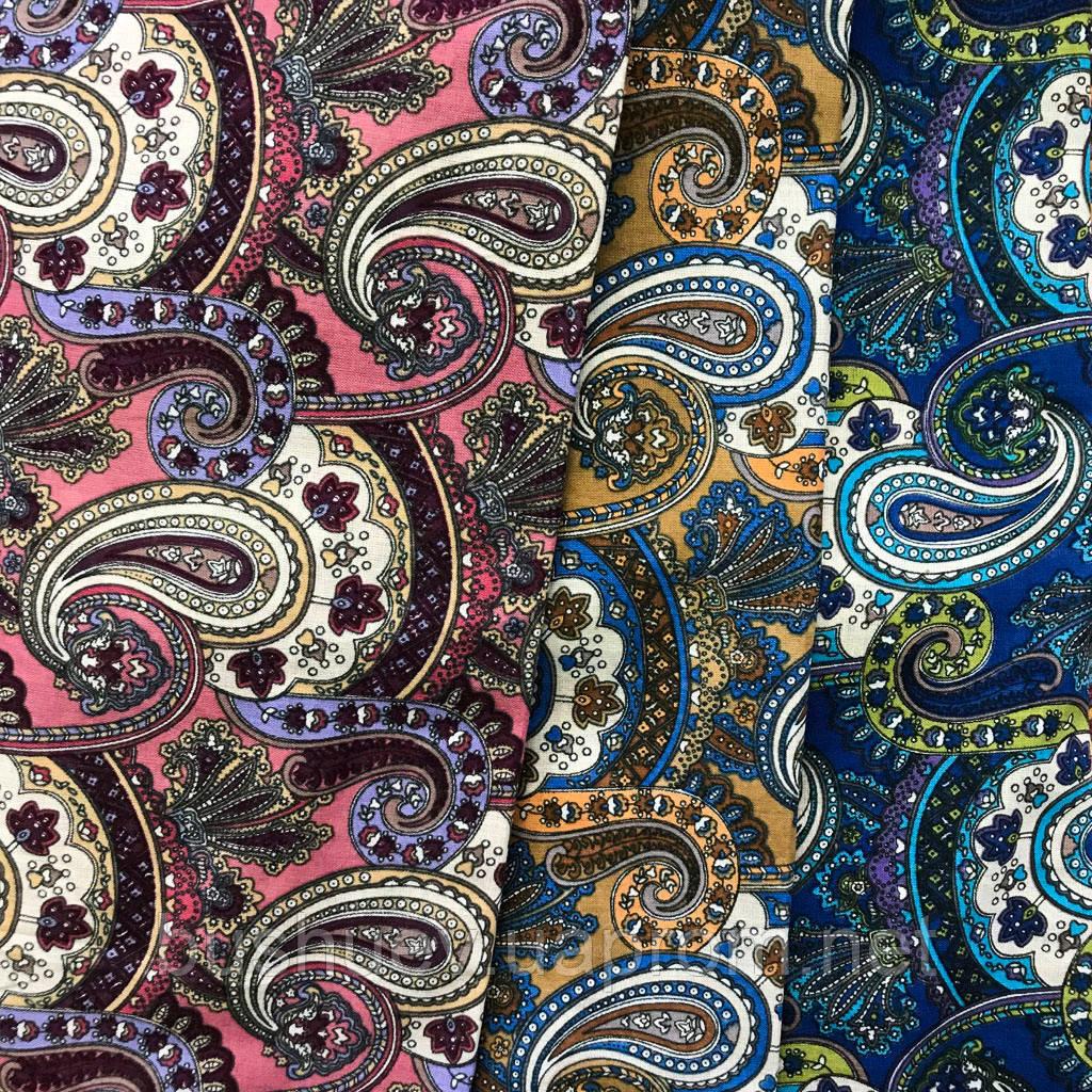 Ткань коттон набивной легкий (турецкий огурец)