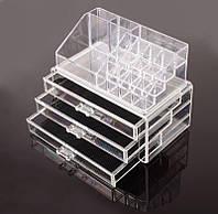 Косметичка Makeup Cosmetics Organizer Drawers Grids Display Storage Clear Acrylic!Спешите