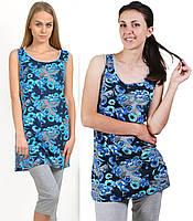 Пижама с бриджами женская комплект Лазурьдомашняя одежда трикотажная хлопковая