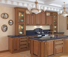 Кухня фасад натуральный шпон