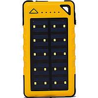 Solar power bank (повер банк) P12-20000 MAN. Портативное зарядное устройство на солнечной батарее