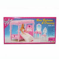 """Мебель """"Gloria"""" 2614 спальня, кровать с балдахином, трюмо, стул, в кор-ке, 33,5-17-5см(Меб 2614)"""