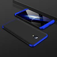 Чехол GKK 360 для Meizu M3 Note бампер оригинальный Black+Blue