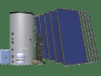 Солнечные коллекторы в комплекте