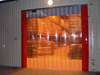 ПВХ завеса, штора Н2100х1080мм, лента Extrafleх 200х1,5мм, перехлест 50%, 7 лент, комплект с карнизом