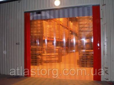 ПВХ завеса, штора Н2100х1080мм, лента Extrafleх 200х1,5мм, перехлест 50%, 7 лент, комплект с карнизом - Складское оборудование, промышленная мебель, стеллажи, колеса, ПВХ завесы в Харькове