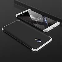 Чехол GKK 360 для Meizu M3 Note бампер оригинальный Black+Silver