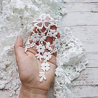 Мереживо - Квіточки-павутинка. Колір: білий. Ширина 16 см. Ціна за 45 см.