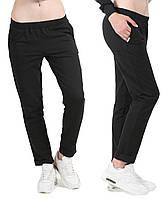 Черные брюки женские чиносы трикотажные с карманами стрейчевые