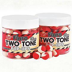 Бойлы Dynamite Baits Two Tone Strawberry&Coconut Cream Fluro Pop-Ups 20mm 100g