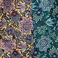 Ткань коттон набивной легкий (Хризантема), фото 1