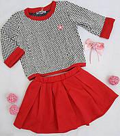 Детский костюм,  pазмер 116, 122, основной цвет красный