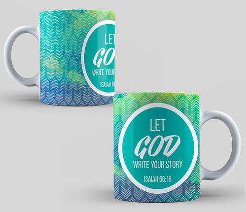 "Кружка ""Let God write your story"", 310 мл  , фото 2"