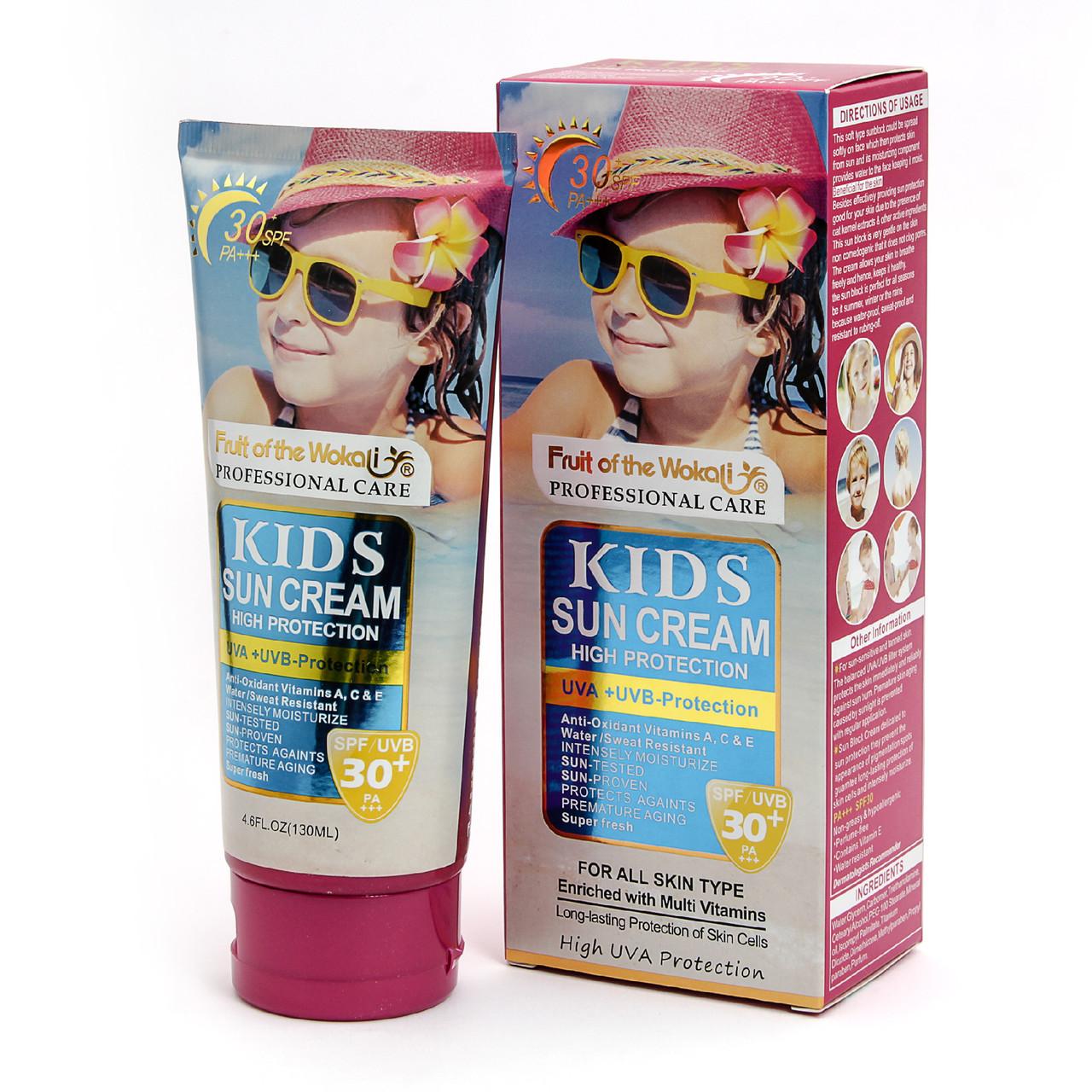 Солнцезащитный крем для детей Wokali, 30+ SPF