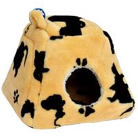 Лежак Кот Леопольд Compliment Уютный и тёплый домик для кошек 38х38х34 см