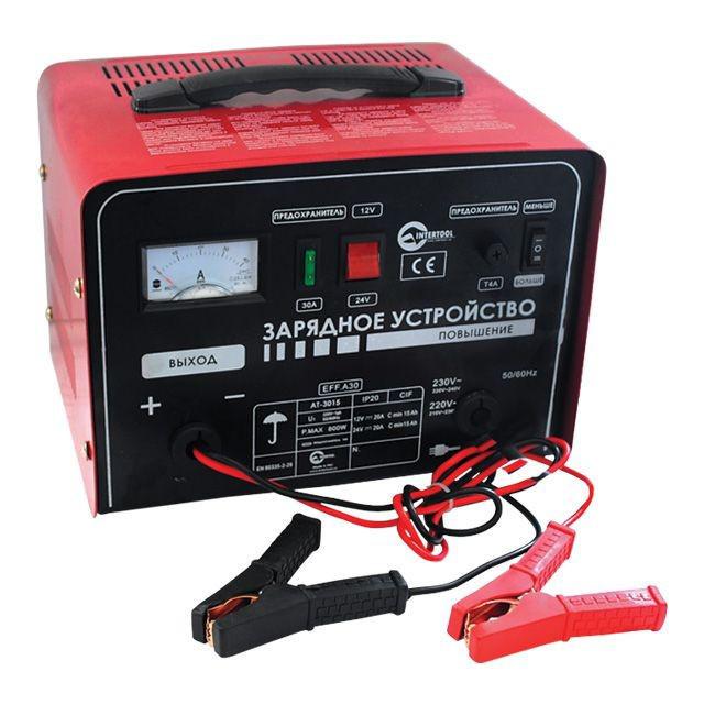 Автомобильное зарядное устройство 12-24В, 600Вт, 230В, 30/20А Intertoo