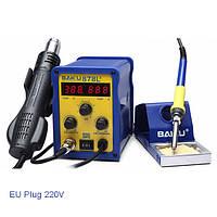 BAKU BK-878l2 700w 220v ес штекер 2 в 1 паяльная станция паяльника и фена