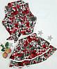 Детский костюм,  pазмер 98, 104, 110, 110, принт цветы