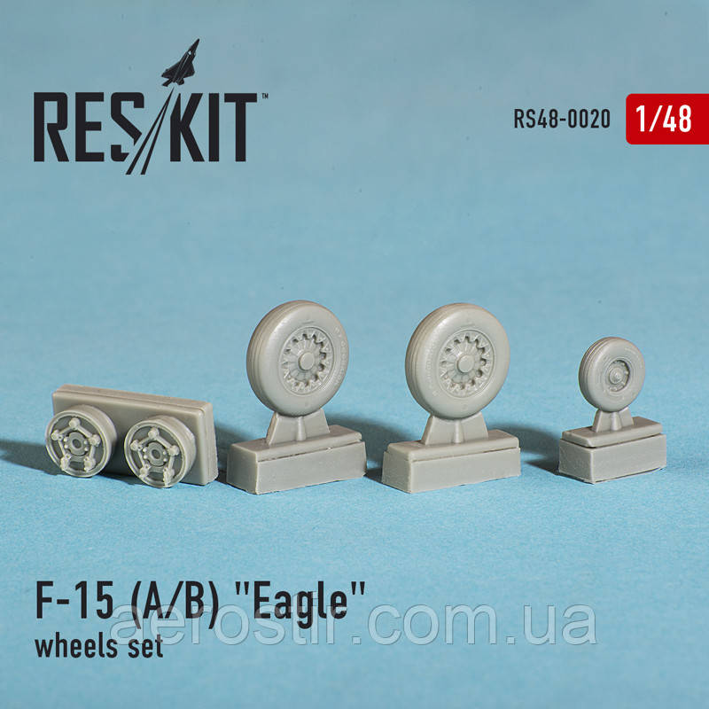 "McDonnell Douglas F-15 (A/B) ""Eagle"" wheels set 1/48 RES/KIT 48-0020"