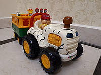 Kiddieland Трактор сафари с прицепом со свето-звуковыми эффектами ,б/у