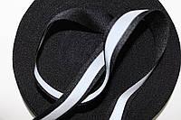 Тесьма светоотражающая 20мм (50м) черная, фото 1
