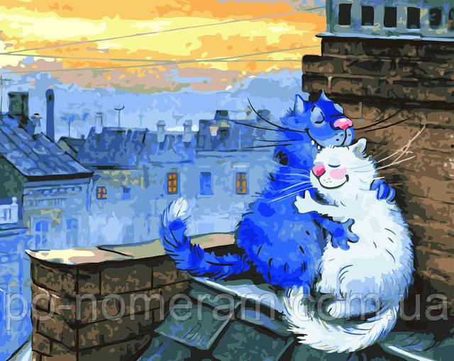 Синие коты - картина по номерам