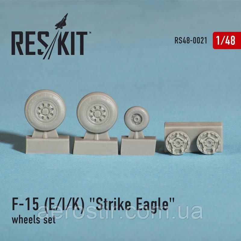"McDonnell DouglasF-15 (E/I/K) ""Strike Eagle"" wheels set 1/48  RES/KIT 48-0021"