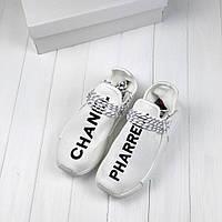 Adidas NMD Human Race Pharrell Chanel White   кроссовки женские  белые   летние 8aaa3be6e82