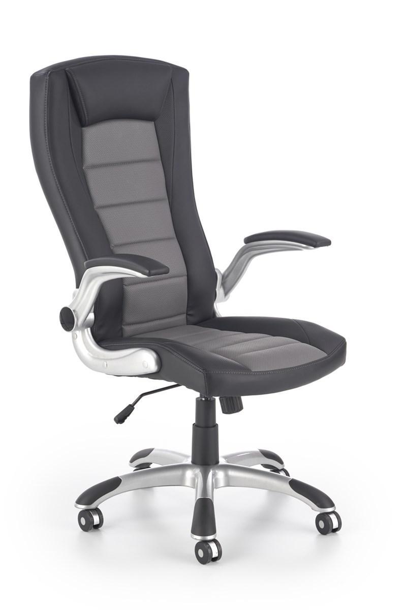 Компьютерное кресло UPSET черный/серый Halmar