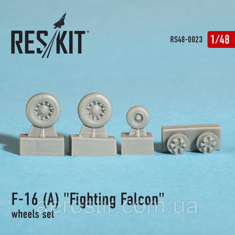 "General Dynamics F-16 A ""Fighting Falcon"" wheels set 1/48 RES/KIT 48-0023"