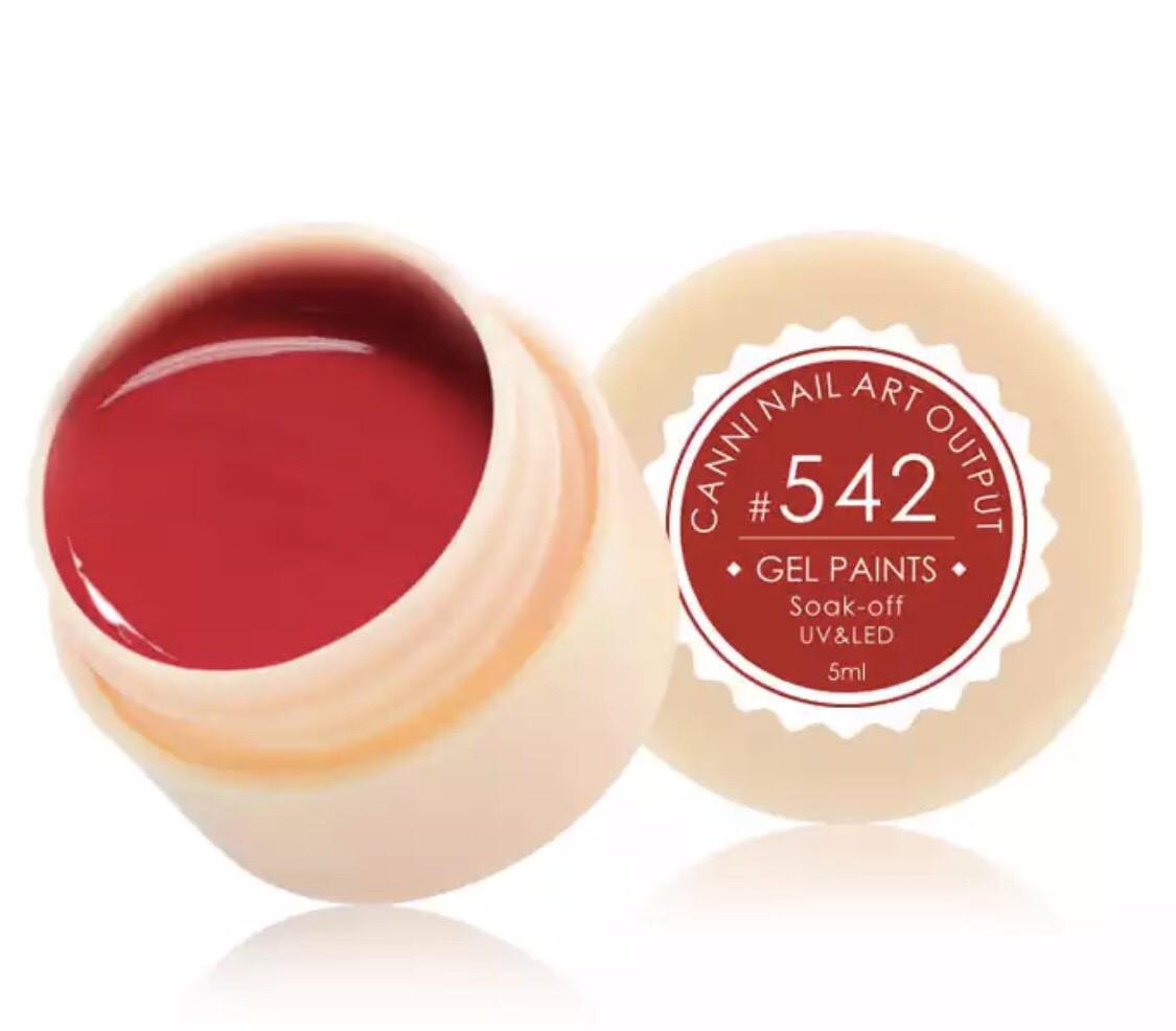 Гель-краска CANNI 542 (темно-красный), 5 мл