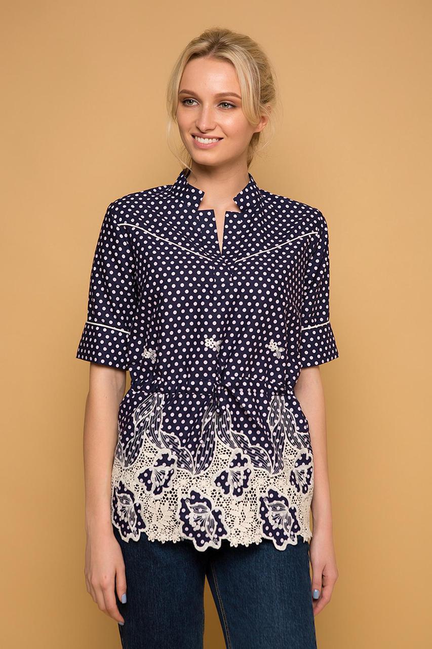 fb7febb7b2c Красивая женская блуза рубашка с прошвой из хлопка - Модный магазин в  Киевской области