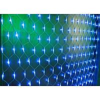 Гирлянда электрическая сетка 1.4*1.4м голубая120 LED