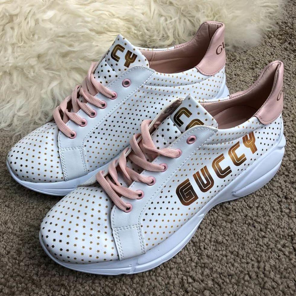 Білі кросівки Gucci Rhyton Golden Stars White/Beige