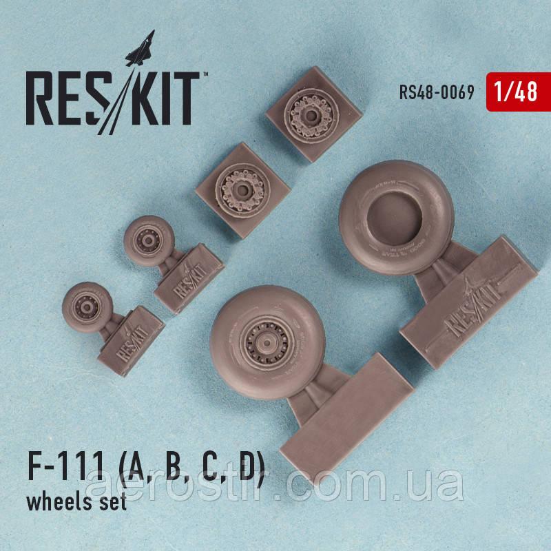 General Dynamics F-111 (A, B, C, D) wheels set 1/48  RES/KIT 48-0069